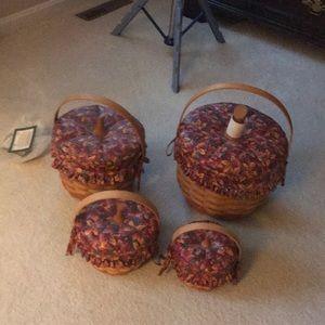 Longaberger Pumpkin Baskets
